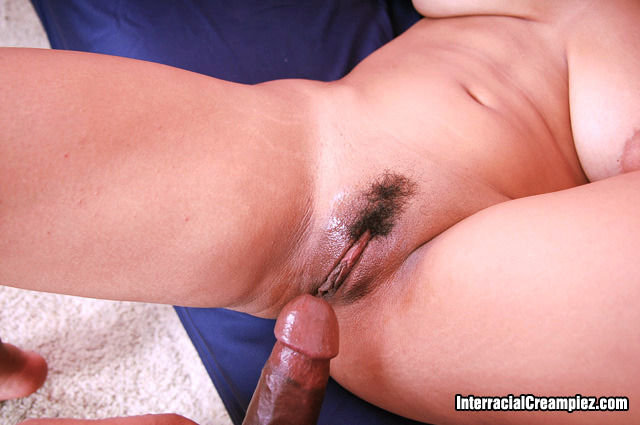 Hairy spunk covered cunt