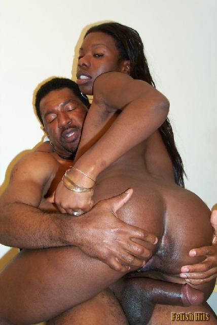 black guy fucking girl from behind