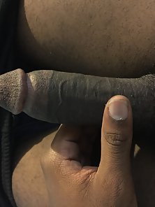 Horny black penis so juicy