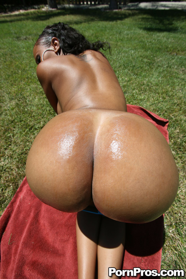 Big black bubble asses