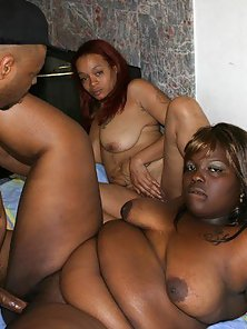 Two Big Black Woman Share a Big Dick