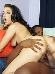 Curvy Brunette Is Hungry For Black Jism