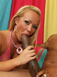 Busty Blonde Austin Taylor Sucked and Facial By A Big Black Cock