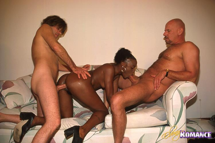 Ebony threesome sex black