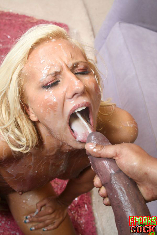 Big cumshot on face