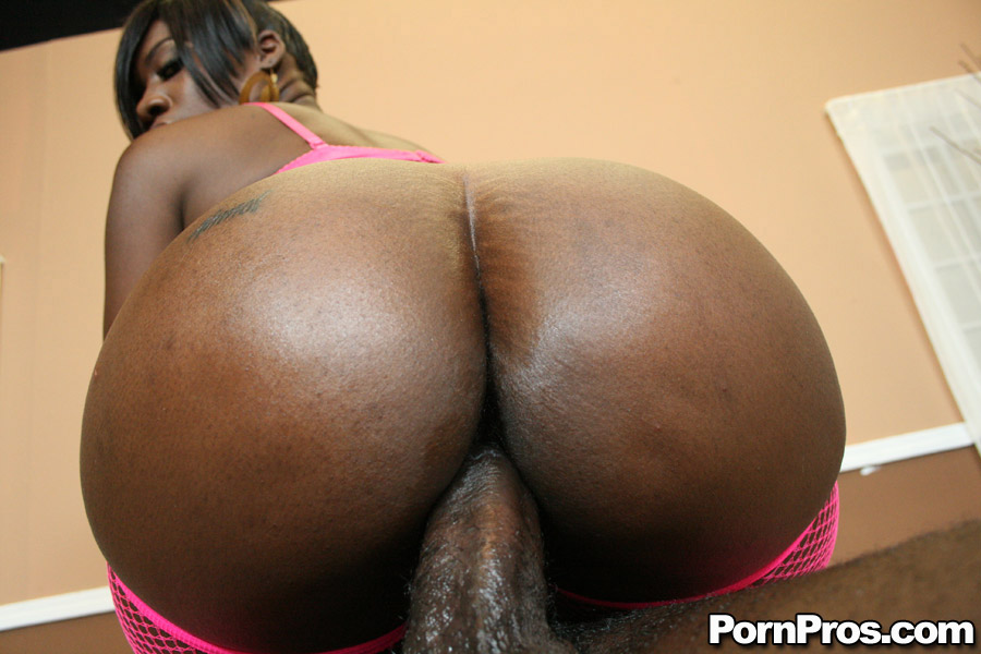Big ass ebony tube