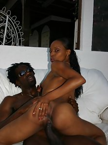 Sexy sassy sista with a firm black ass rides an angry black monster cock