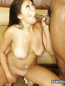 Petite Asian Strains To Take Black Shaft