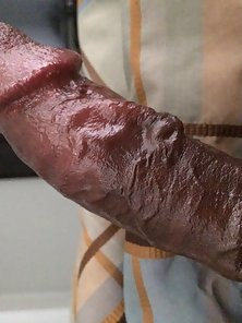 Big black dick throbbing