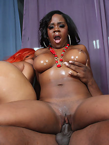 Two Huge Butt Bitches Well Massive Parts Oil Massaged Before Fucking