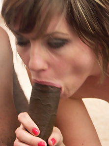 White babes addicted to thick black dick