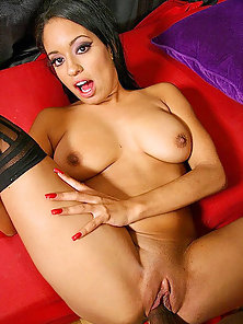 Pimped ghetto teen gets her black snatch poked by thick black cock