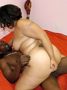Hardcore black on black action with a chubby ebony babe