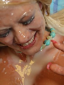 Nasty Blonde Sucked and Facial with Huge Load Of Cum