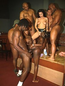 Big Ass Nasty Ebony Gets Banged In Her Anal Hole by a Group of Hunky Guys