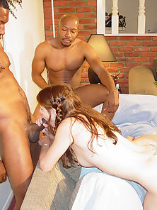 A horny white chick plowed hard in the ass