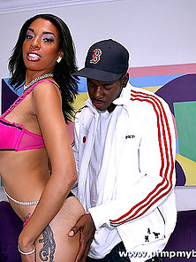 Black teen in a cow girl pimping that you do not want to miss