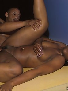 Black babe with braids getting her thick ass self fucked