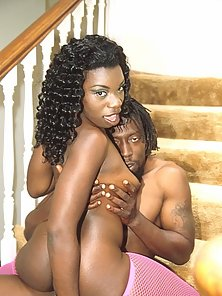 Stocking Ebony Babe Badly Rammed By Hunky Man At Home