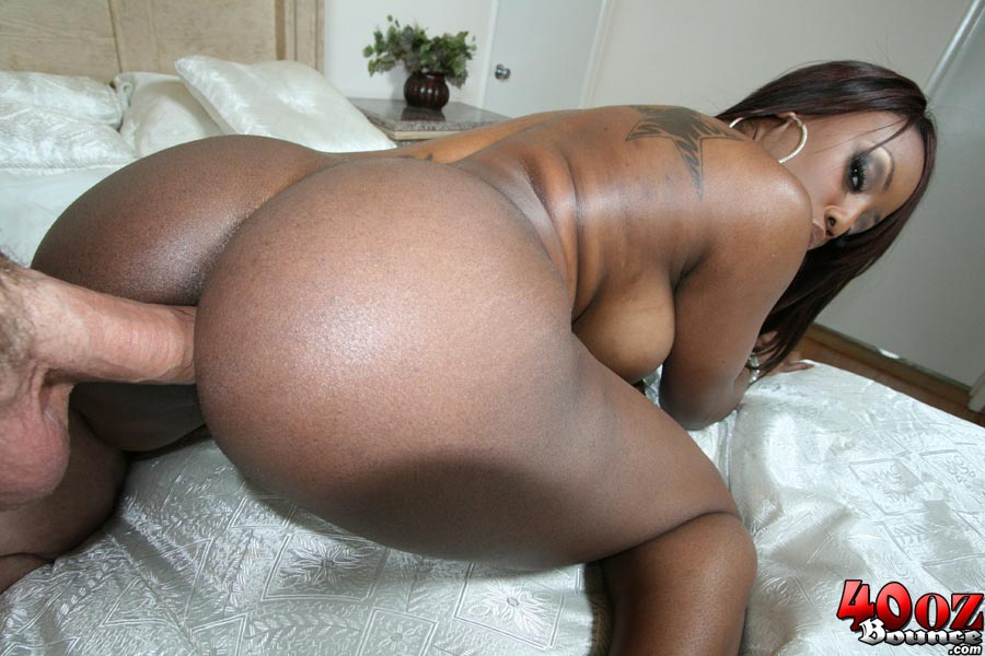 Ebony Twosome Sharing White Ass