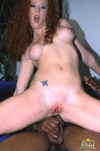 Sweet redhead takes a very big cock