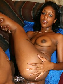 Ebony Bitch Sassy Shows off Her Huge Butt by Spanking and Ramming Hard