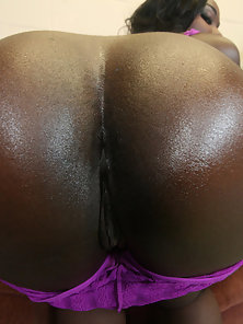Chocolate booty nurse gets big fat cock up her ass