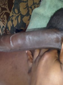 Naughty Black Person Plays with Her Colossal Fleshy Dong