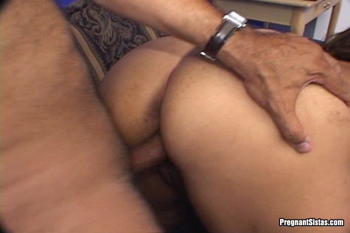 Nasty Ebony Preggo Craves Two Fat Pricks