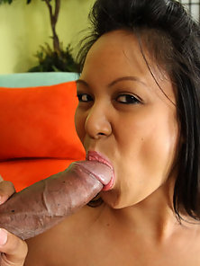Slutty Asian Gets Boned By A Black Cock