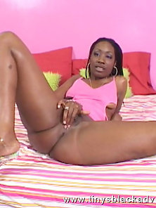 Whole lotta black slut takes a cum shot from a thick dick