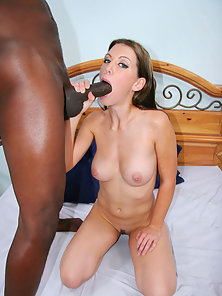 Black monster cock stretches tight white pussy of bitch to the limit