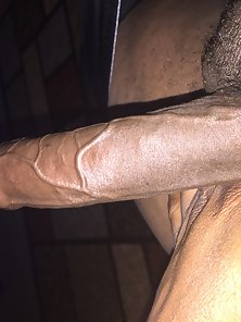 Long black chocolate dick
