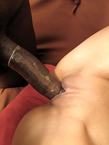 Desiree rides a stiff gigantic dick