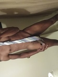 Hunky Black Guy Taking His Naked Photo While With Only A Tie