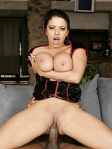 Horny Babe Alexis Silver Enjoy Massive Boobs Pressing and Gets Wild Fucking