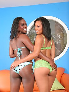 Softcore fun with two delicious dark skinned divas