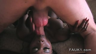 Nasty Sexy Busty Black Lady Huge Sex with a Hunky Guy