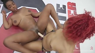 Ultimate surrender has these two ladies wrestle and fuck each other