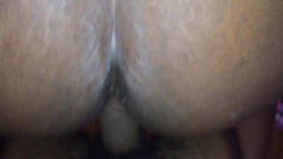 Ebony BBW wife nailed from behind