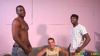 White Guy Sucking His First Black Cocks Ever Gay Porn