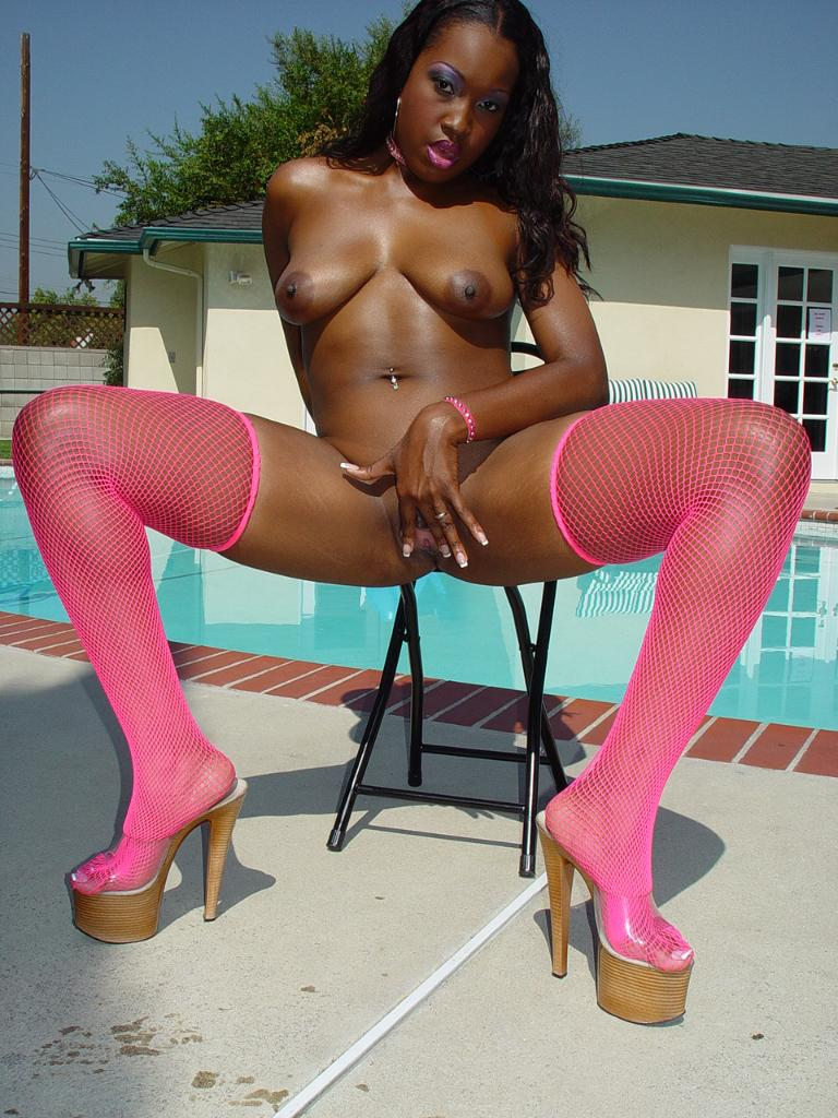Ebony Porn High Heels