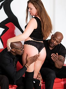 Amazing Threesome Sex with Sean Michaels, Nat Turnher and Maddy O'Reilly