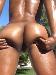 Cute brown babe rides some fat white cock