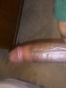 Meaty Black Dong Hunky Guy Waits His Damn Bitch to Get Off From Boring Life