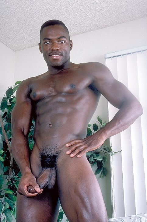 Black Gay Hunk Spreads Wide As He Shows Off His Huge Hard -8623