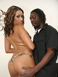 Ebony slut gives up the goods to Byron had his black monster dick