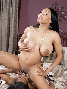 Black Babes Jazzie and Jae Seducing and Licking Their Sweet Cunts