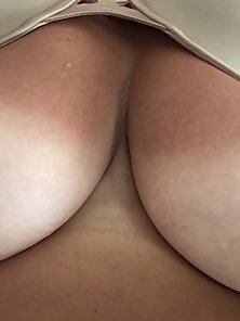 My tan lines from a long day laying out in the sun - showing my big tits