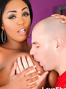 Lovely Brunette Layton with Big Tits Receives Interracial Fuck